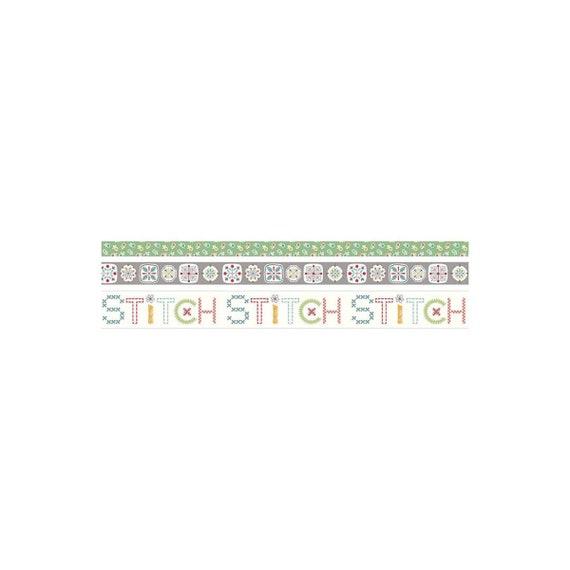 Stitch Washi Tape by Lori Holt for Riley Blake Designs- 4 Rolls- 10 Yards Each Roll- ST-21961