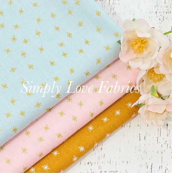 Stardust- 1/2 Yard Bundle (3 Sparkle Fabrics) by Beverly McCullough for Riley Blake Designs