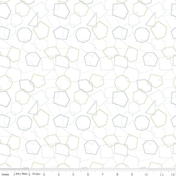 Hush Hush- 1/2 Yard Increments, Cut Continuously (11169 Shape Up) by Amanda Castor of Material Girl Quilts For Riley Blake Designs