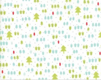 1/2 Yard Vintage Holiday by Bonnie and Camille for Moda- 55163-18 Ivory Seasonal Christmas Trees