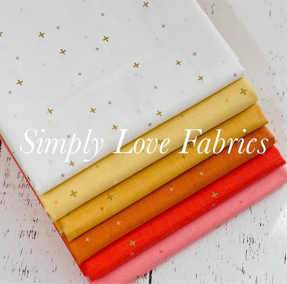 Sparkler- 1/2 Yard Bundle (6 Fabrics With Gold Metallic) by Melissa Mortenson for Riley Blake Designs