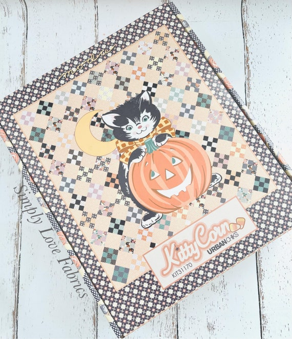 """Kitty Corn Boxed Quilt Kit- KIT31170- (Finished Size 57"""" x 63"""") by Urban Chiks for Moda"""