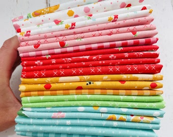 Strawberry Honey- 1/4 Yard Bundle (22 Fabrics) by Gracey Larson for Riley Blake Designs
