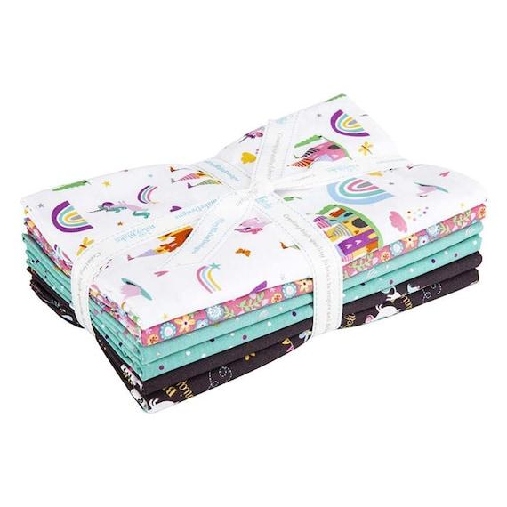 Unicorn Kingdom- 1 Yard Bundle (1 YD-10470W- 6 Fabrics) by Shawn Wallace for Riley Blake Designs