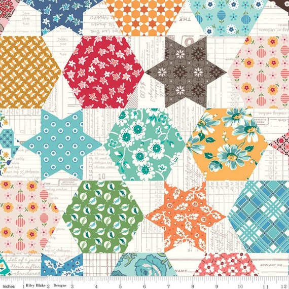 Flea Market- 1/2 yard Increments, Cut Continuously- C10230 Multi Cheater Print by Lori Holt for Riley Blake Designs