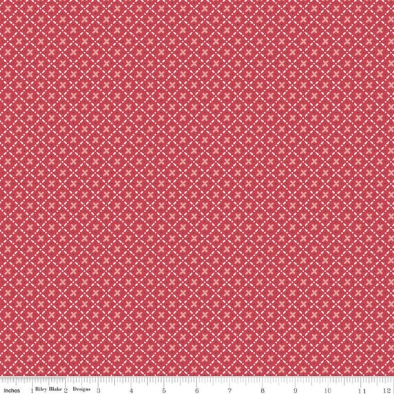 Stitch- 1/2 Yard Increments, Cut Continuously  (C10928 Cayenne Plaid) by Lori Holt for Riley Blake Designs