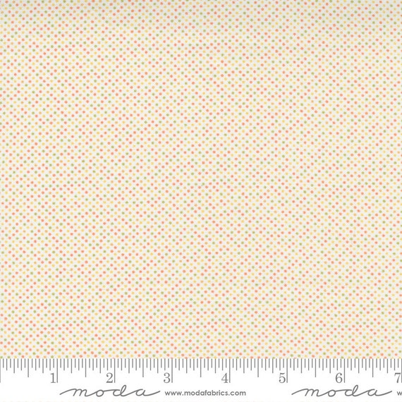 Cozy Up- 1/2 Yard Increments, Cut Continuously (29126 11 Pin Dot Cloud Multi) by Corey Yoder for Moda Fabrics
