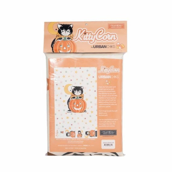 """Kitty Corn- Packaged Panel- 54"""" x 90"""" (31178-11P) by Urban Chiks for Moda"""