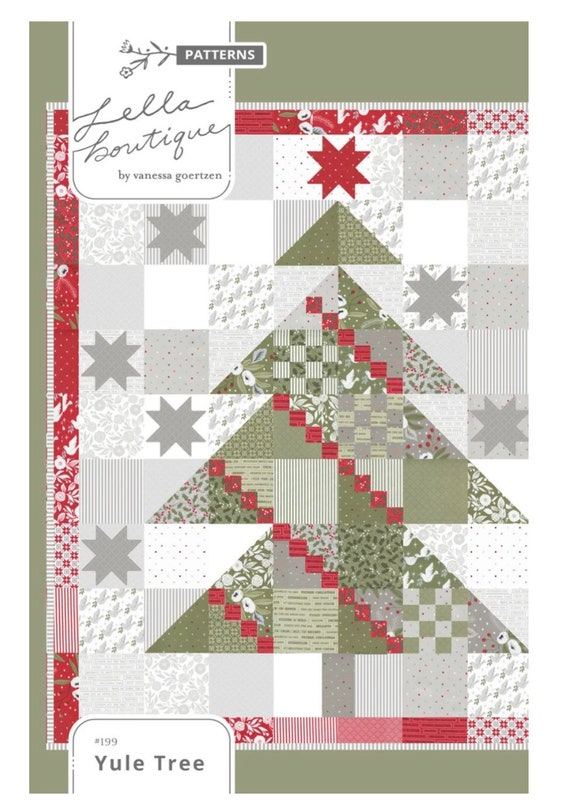 """Yule Tree Quilt PAPER Pattern by Vanessa Goertzen of Lella Boutique for Moda- Finished Quilt Size 72"""" x 80"""""""