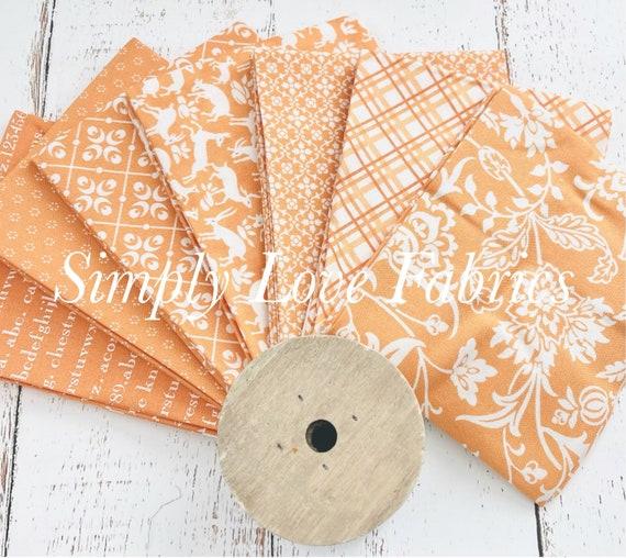 Pumpkins and Blossoms- Fat Quarter Bundle (7 Orange Fabrics) by Fig Tree for Moda