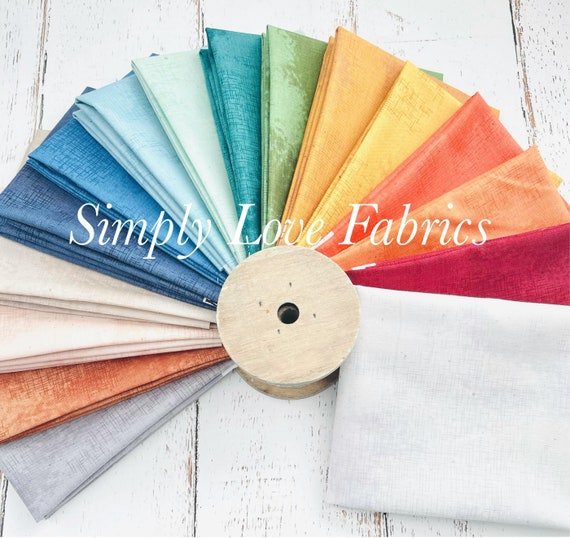 Shabby Original Colors- Fat Quarter Bundle (16 Fabrics) by Lori Holt of Bee In My Bonnet for Riley Blake Designs