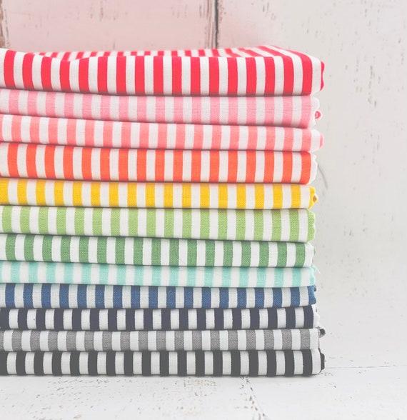 "1/2 Yard Bundle -12 Fabrics -Stripes 1/8"" C495 Riley Blake Designs Basic"