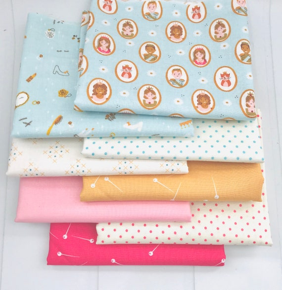 1/4 Yard Bundle (8 Fabrics) Guinevere by Citrus and Mint for Riley Blake Designs