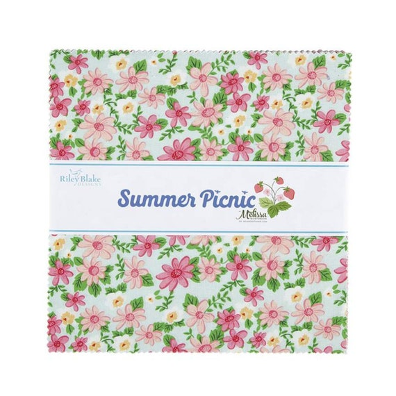 "Summer Picnic - 10"" Stacker 10-10750 (42 Fabrics) by Melissa Mortenson for Riley Blake Designs"