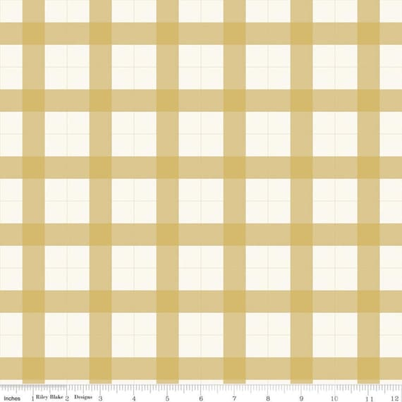 Gingham Foundry -1/2 Yard Increments, cut continuously - Honey Gingham - C11132  by My Minds Eye for Riley Blake Designs