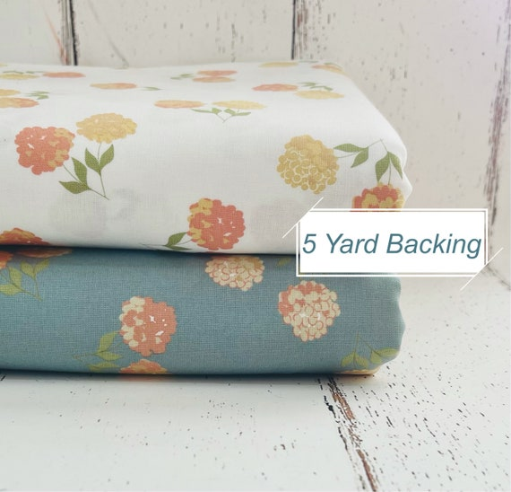 5 Yard Backing- Cozy Up- (29121 17 Clover Floral) by Corey Yoder for Moda Fabrics