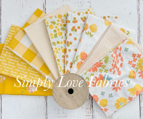 Cozy Up- Fat Quarter Bundle (9 Yellow/White Fabrics) by Corey Yoder for Moda Fabrics