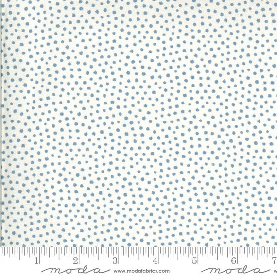 Regency Zarafa- 1/2 Yard Increments, Cut Continuously- 42353-12 White Blue Indian- by Christopher Wilson Tate for Moda