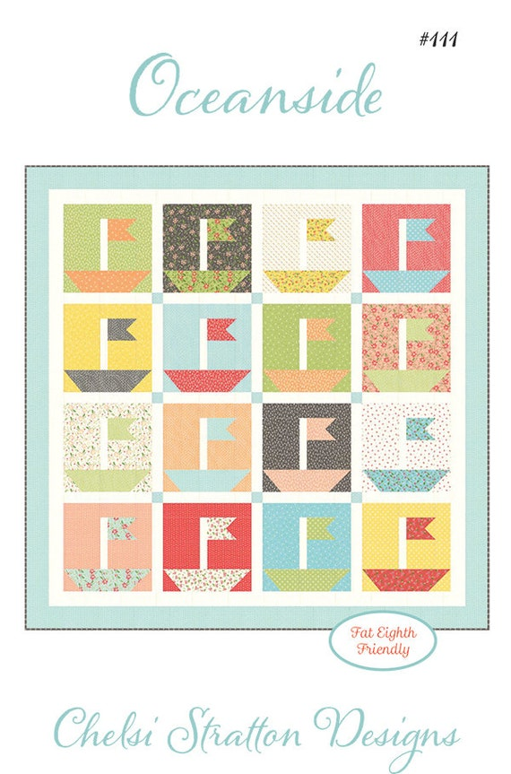 """Oceanside Quilt Kit With Pattern using Summer Sweet by Sherri and Chelsi for Moda- CSD 111 - Finished Size 38"""" x 38"""""""