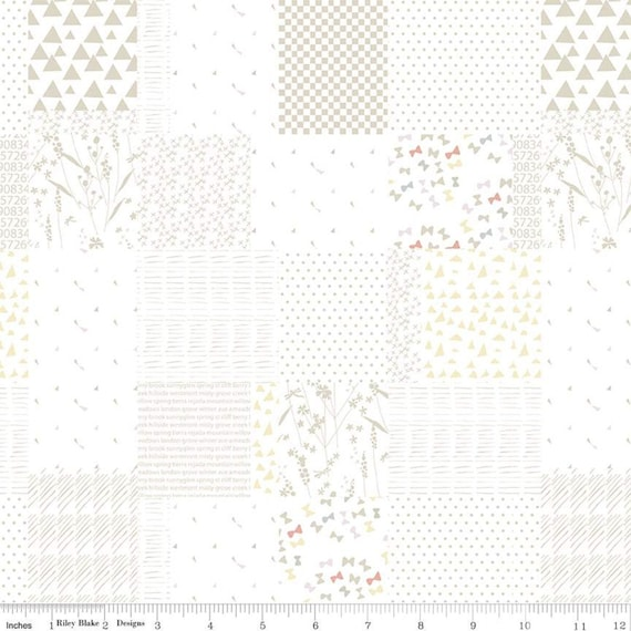 Hush Hush- 1/2 Yard Increments, Cut Continuously (11175 Patchwork) by Minki Kim For Riley Blake Designs