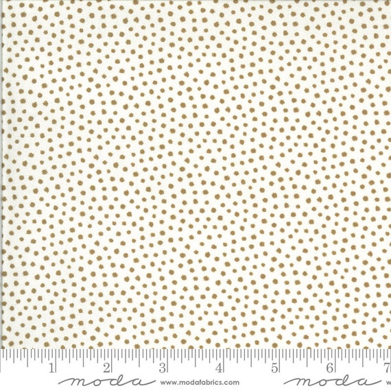 Regency Zarafa- 1/2 Yard Increments, Cut Continuously- 42353-13 White Tan Indian- by Christopher Wilson Tate for Moda