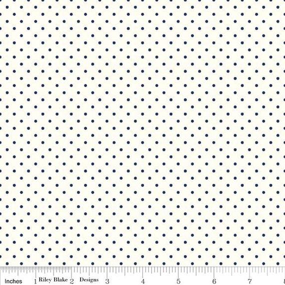 La Creme Swiss Dot BLACK by Riley Blake Designs- C600-110- 1/2 yard Increments, Cut Continuously