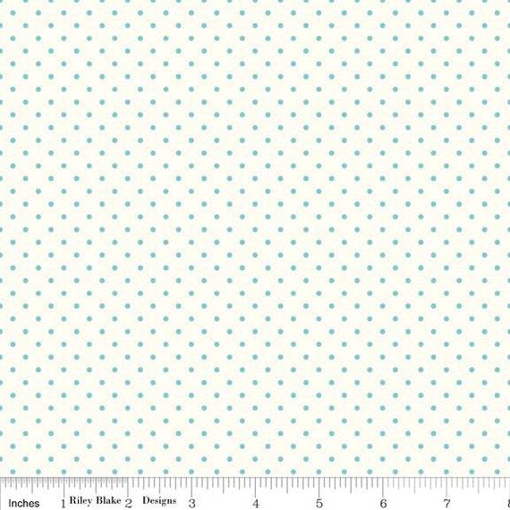 La Creme Swiss Dot AQUA by Riley Blake Designs- C600-20- 1/2 yard Increments, Cut Continuously