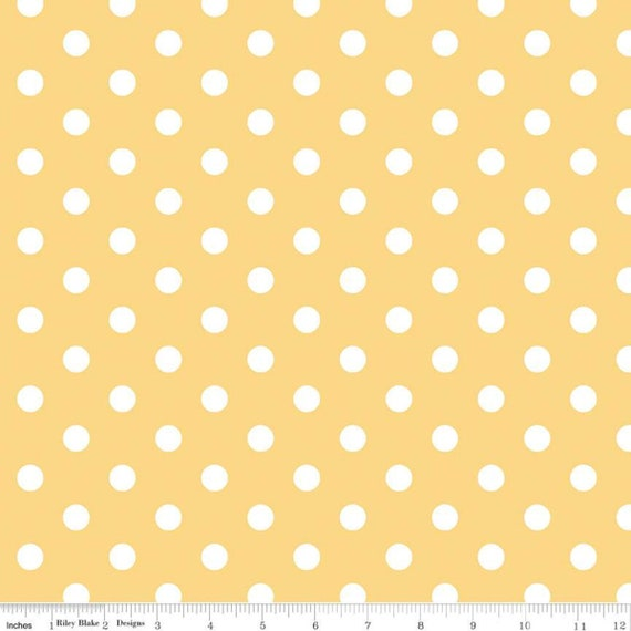 Notting Hill-1/2 Increments, Cut Continuously-(C10203 Yellow Dots) by Amy Smart for Riley Blake Designs