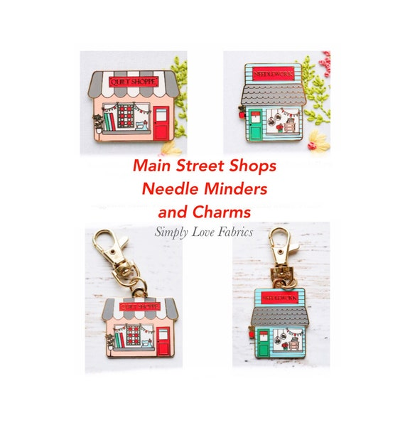 Main Street Shops- Needle Minder and Charms by Beverly McCullough of Flamingo Toes