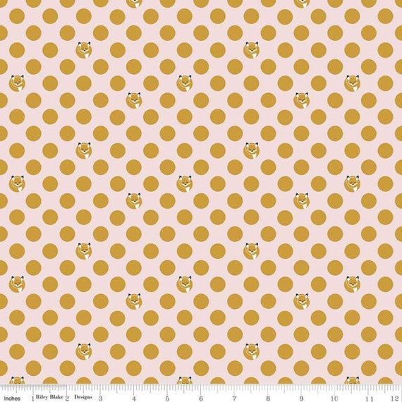 Fox Farm by Melissa Mortenson for Riley Blake Designs With Sparkle Cotton- SC8265 Pink Dots - 1/2 Yard Increments, Cut Continuously