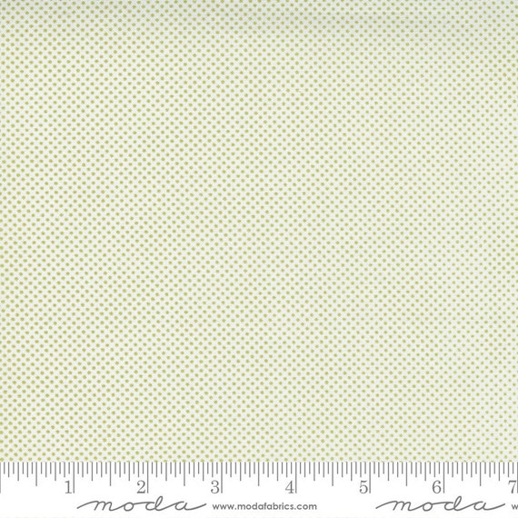 Cozy Up- 1/2 Yard Increments, Cut Continuously (29126 25 Pin Dot Cloud Moss) by Corey Yoder for Moda Fabrics