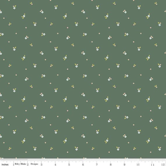 Community- 1/2 Yard Increments, Cut Continuously (C11105 Forest Ditzy) by Citrus and Mint Designs for Riley Blake Designs