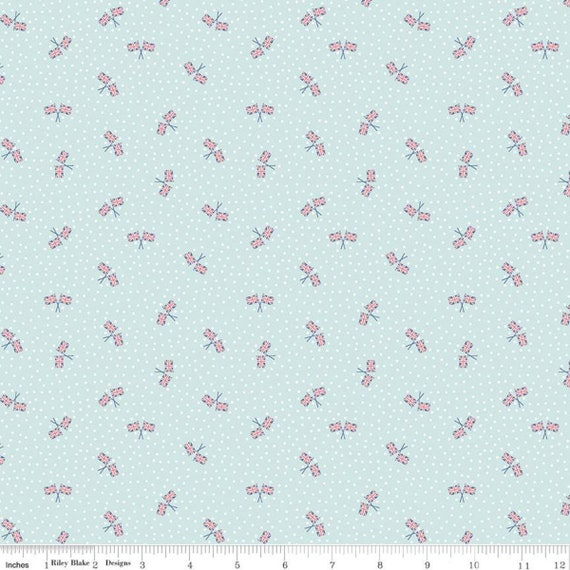 Notting Hill-1/2 Increments, Cut Continuously-(C10206 Aqua Union Jack) by Amy Smart for Riley Blake Designs