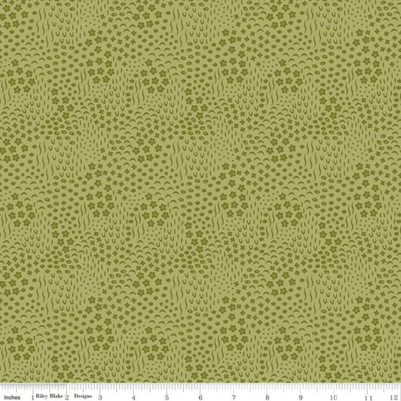 Primrose Hill - 1/2 Yard Increments, Cut Continuously Olive Meadow - C11064  by Melanie Collette for Riley Blake Designs
