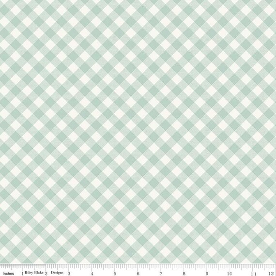Joy in the Journey- 1/2 Yard Increments, Cut Continuously- C10683 Mint Plaid by Dani Mogstad for Riley Blake Designs