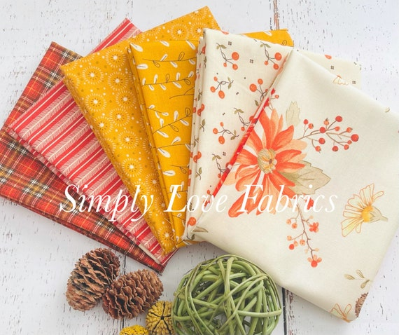 Adel in Autumn - Fat Quarter Bundle (6 Fabrics) by Sandy Gervais for Riley Blake Designs