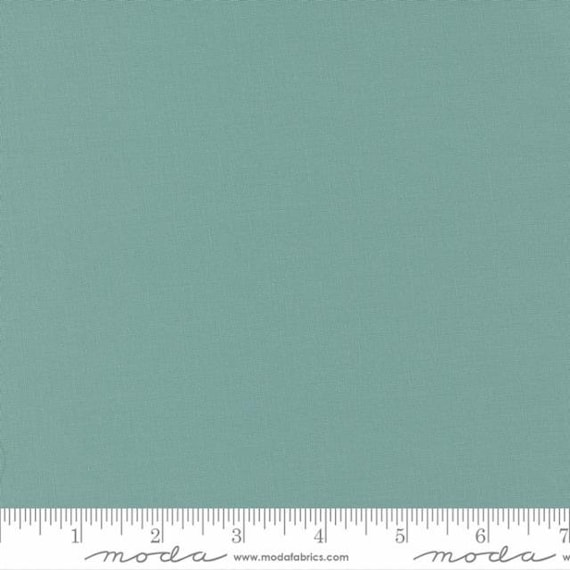 Bella Solids Moda-9900-38 Dusty Jade - Coordinates with Cozy Up Fabric- 1/2 Yard Increments - Cut Continuously