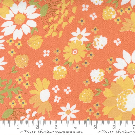 Cozy Up- 1/2 Yard Increments, Cut Continuously (29120-12 Sunshine Harvest Floral Cinnamon) by Corey Yoder for Moda Fabrics