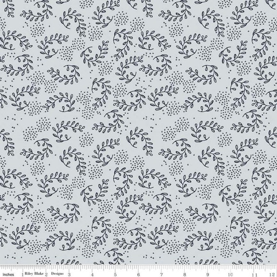 Gingham Foundry -1/2 Yard Increments, cut continuously - Mist Vines - C11133  by My Minds Eye for Riley Blake Designs