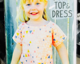 Mini Bondi Top and Dress Pattern Sizes 12 Months-10 years Old by Sew to Grow