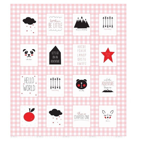 """Pink Panel Let Them Be Little by Simple Simon and Co. for Riley Blake Designs- P7517 Pink Panel Size 53"""" x 61"""""""