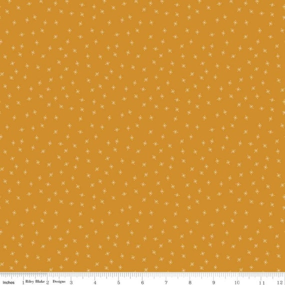 Stardust- 1/2 Yard Increments, Cut Continuously (C10506 Sparkle Butterscotch) Beverly McCullough for Riley Blake Designs