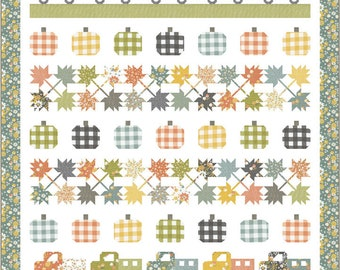 """Roadside Harvest Boxed Quilt Kit -KIT29120- Finished Size 72"""" x 80""""-Cozy Up Fabric by Corey Yoder for Moda"""