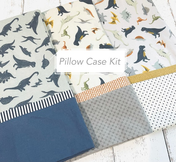 FLANNEL Pillow Case Kit- Fossil Rim Fabric by Deena Rutter for Riley Blake Designs- Free Pattern