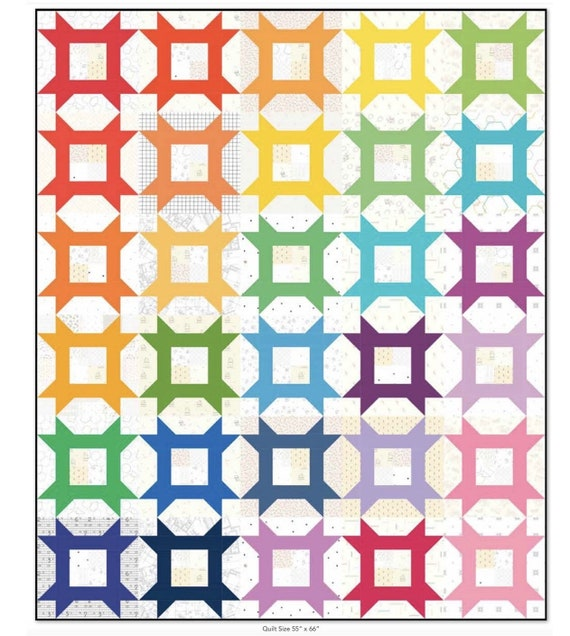 Little Miss Quilt Pattern- Finished Quilt Size Options -P165 by Andy Knowlton of A Bright Corner