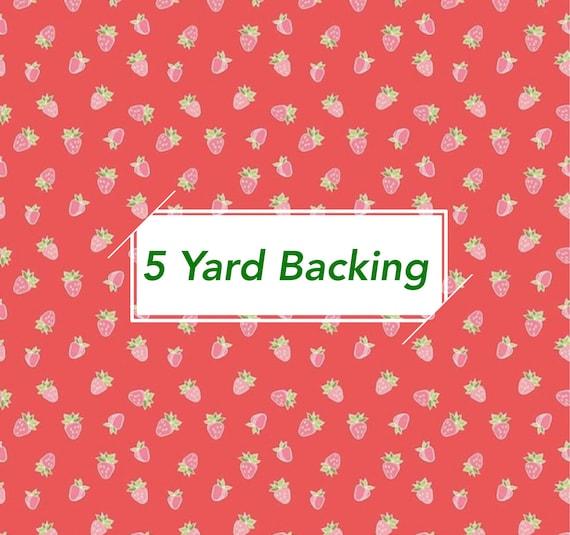 5 Yard Backing- Strawberry Honey- (C10241 Cayenne Strawberries) by Gracey Larson for Riley Blake Designs