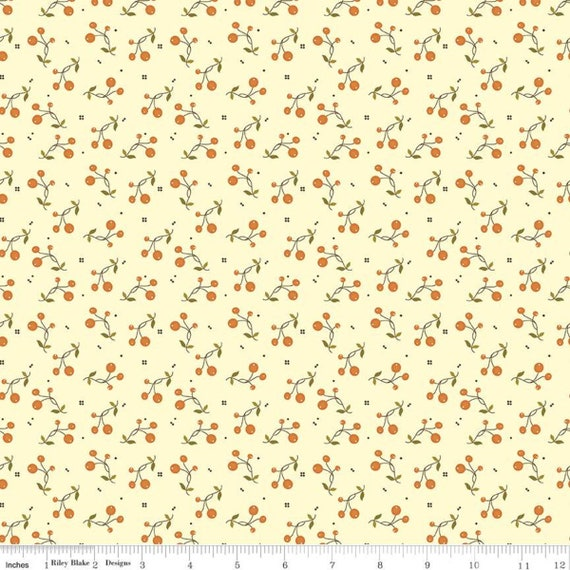 Adel in Autumn- 1/2 Yard Increments, Cut Continuously (C10823 Cream Berries) by Sandy Gervais for Riley Blake Designs