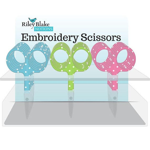 Embriodery Scissors by Riley Blake Designs-ST-6744- Dots