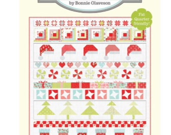 """Christmas Cheer Pattern by Cotton Way for Moda- 78"""" x 88"""" Finished Quilt Size"""