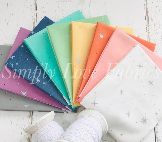 Fat Quarter Bundle- (9 Fabrics) Ombre Fairy Dust by V and Co. for Moda